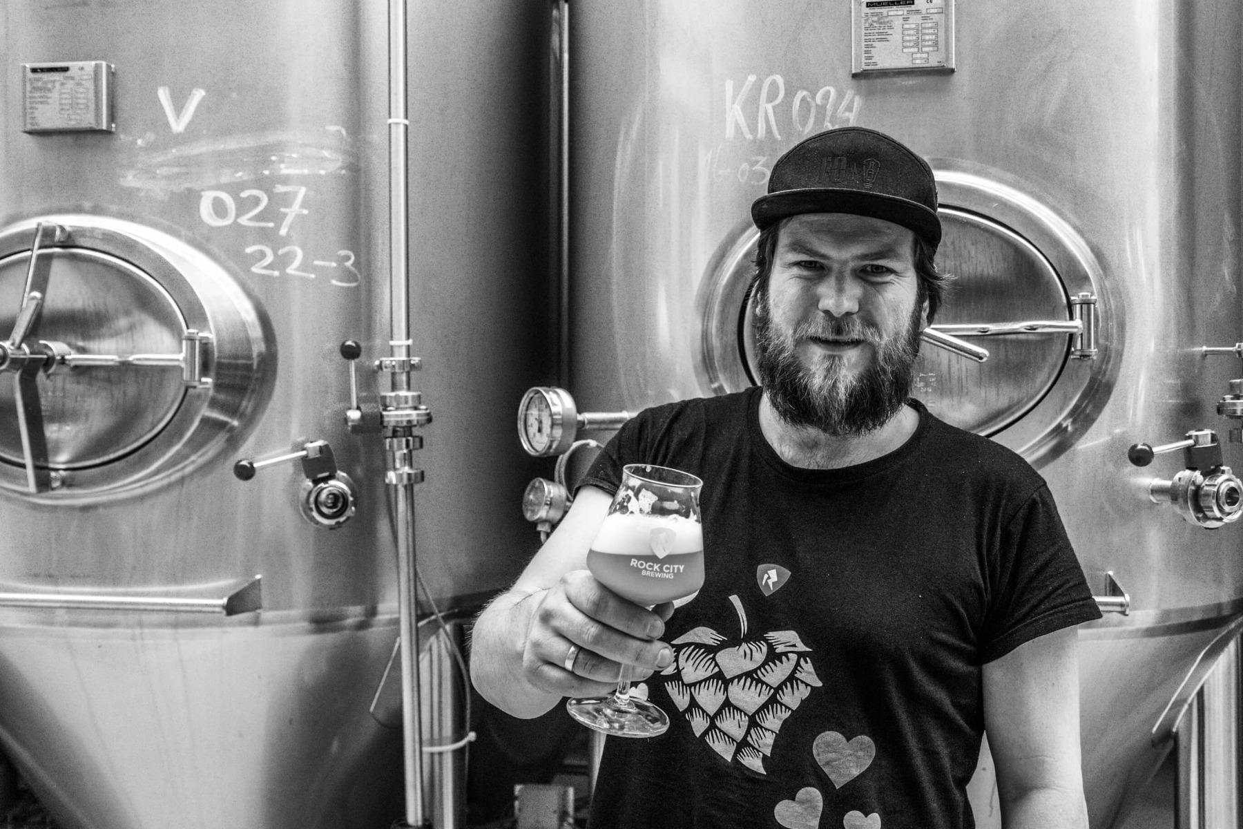 Koen Overeem, mede-oprichter en hoofdbrouwer van Rock City Brewing uit Amersfoort