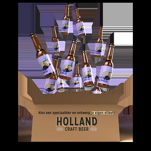 12 verschillende bieren met jouw zelfontworpen etiket